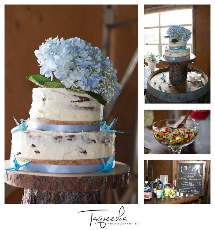 Kamloops wedding photographer, Photography by Taqueesha. www.taqueesha.com  Homemade wedding cake Rustic wedding, wedding details.