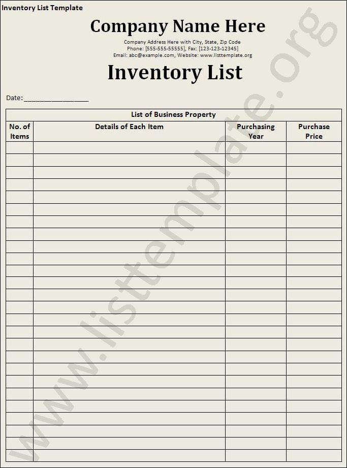 Office Supplies Office Supplies Inventory List