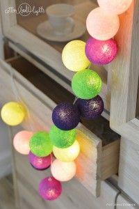 Home decor. Uva - zestaw Cotton Ball Lights