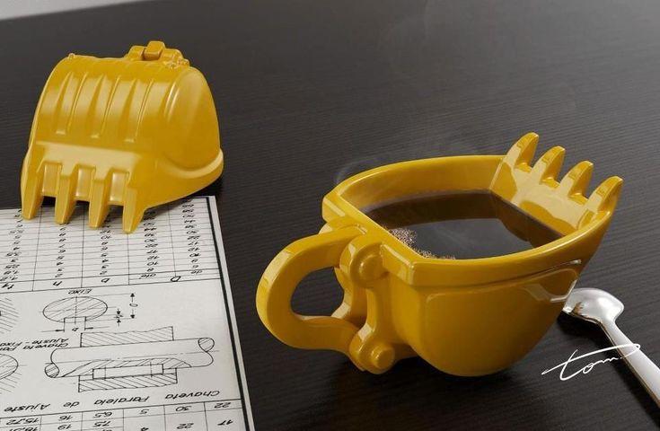 Esta es la mejor taza de café para obreros, sobre todo para quienes se encargan de mover las grúas.