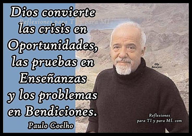"""oracion de la manana en imagenes para facebook   Reflexiones para TI y para MÍ: * PAULO COELHO... """"Dios convierte las ..."""
