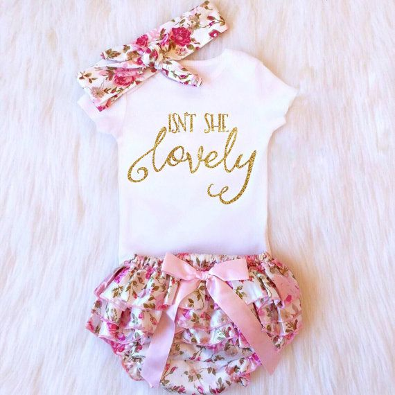 SALE Baby Girl Clothes Baby Girl Outfit by KennedyClairesCloset