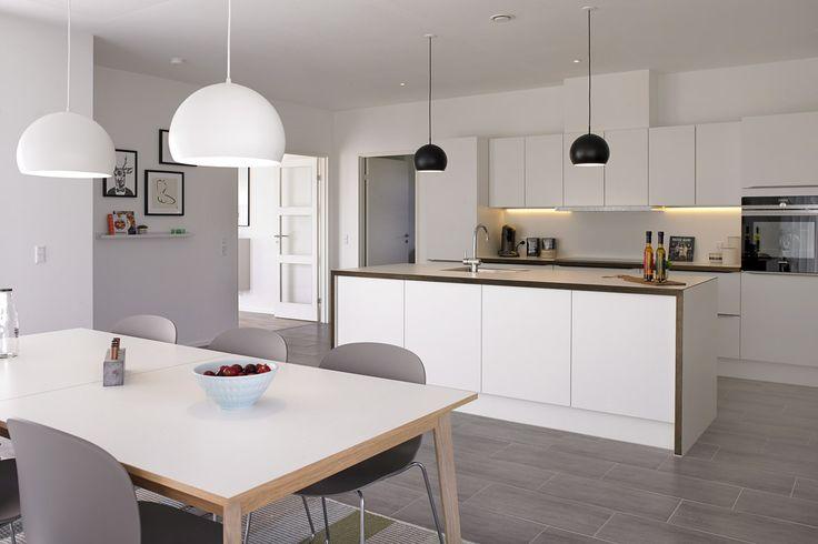 Elegant Designa køkken i hjertet af eurodan-huset.