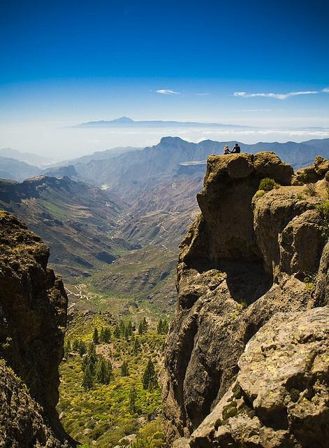 El Teide visto desde el Roque Nublo. Cran Canaria.- Done