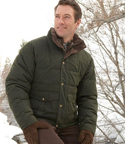 Waxed Cotton Down Jacket Outerwear Free Shipping At L L