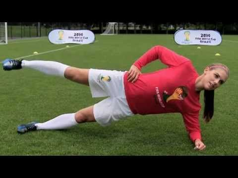 Alex Morgan Soccer Workout: Side Bench w/Leg Lift