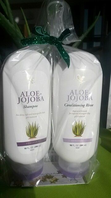 Forever Shampoo & Conditioner Set - suitable for all hair types the shampoo & conditioner uses Aloe Vera & Jojoba oil to help replenish the hairs natural moisture, leaving it feeling clean, shiny, manageable & silky soft   http://www.healeraloe.flp.com/