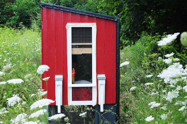 So kann ein mobiler Hühnerstall aussehen