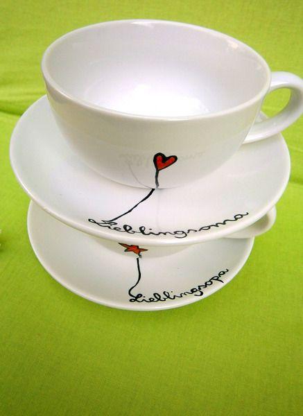 Lieblingsopa  Set (  Teller & Tasse) für Opa von hochdietassen via dawanda.com