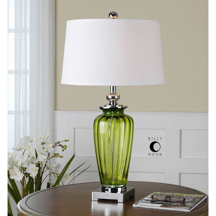 Uttermost Amedeo Green Glass Table Lamp 26593 Glass