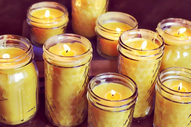 Beeswax candles are our newest obsession! Not only is pure beeswax a beautiful golden color, it has a cleansing effect on the air in your home. Beeswax is naturally scented. I love the scent. It's fresh and pretty, but not overpowering... a little bit like honey! We purchased 5 pounds of pure beeswax from this Etsy shop and made more than ten candles with it. Here's how-