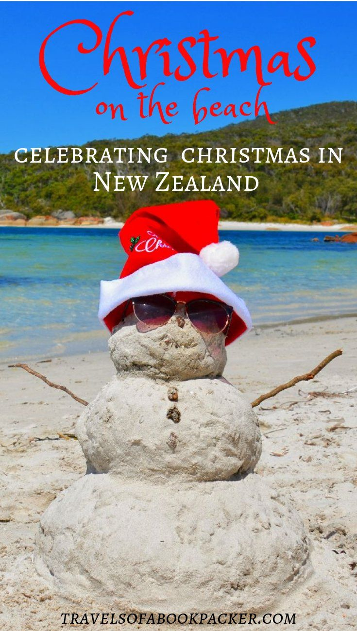 Read about Christmas in the sun and how Christmas is celebrated Down-Under. All the exciting things about Christmas on the beach in New Zealand! #christmas #newzealand #nz #beach