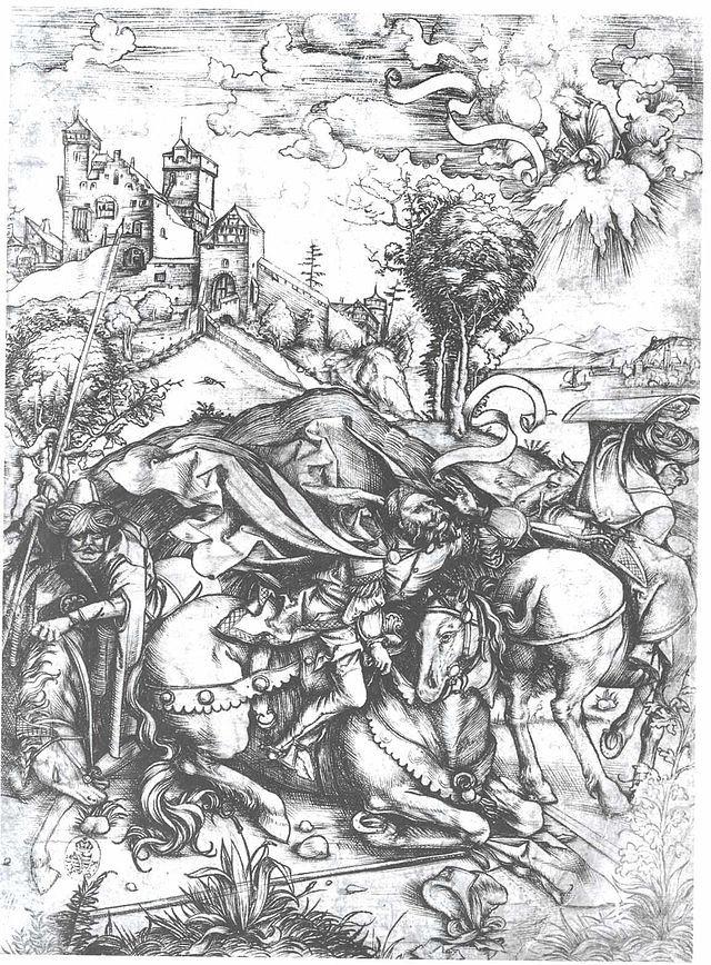 Dürer - Die Bekehrung des Paulus - Conversión de San Pablo - Wikipedia, la enciclopedia libre