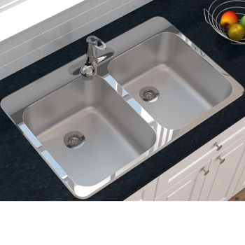 Ancona Double Bowl Top Mount Kitchen Sink Costco Ca Stainless Steel Cleaning Stainless Steel Sinks Sink