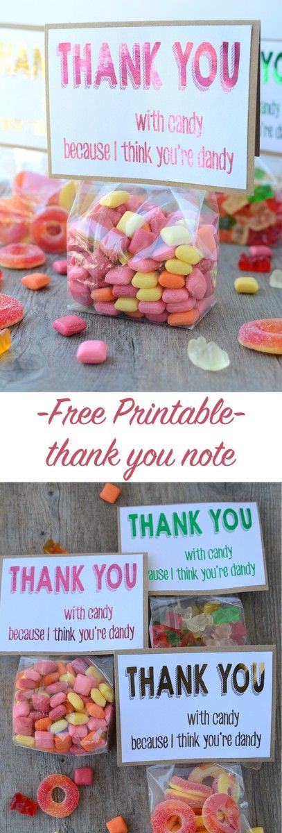 how to write thank you notes for wedding gift cards%0A Free printable candy thank you note