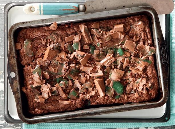 Peppermint Crisp fudge brownies: Today's choccie recipe is definitely a crowd-pleaser.