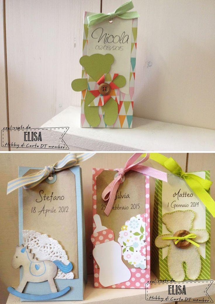 Hobby di Carta - Il blog: Un pizzico di colore per un portaconfetti...