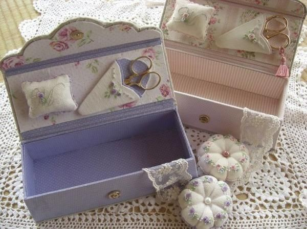 Claire Diary sewing box