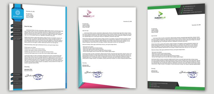 7 #Corporate #Letterhead #Templates #Designs #company #business - corporate letterhead template