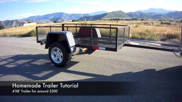 How to build a Homemade 4 X 8 Utility Trailer from Scratch for around $300   Practical Survivalist