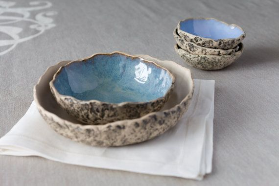 Handmade ceramic serving bowls  by KARI CERAMICS