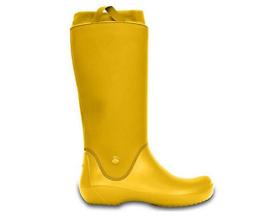 Bottes de Pluie Femme Crocs, achat Women's RainFloe Boot pas cher prix promo Crocs 79,99 €