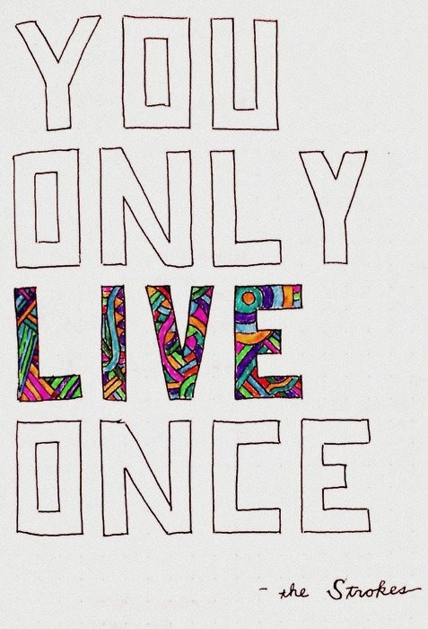 You Only Live Once - The Strokes. The original YOLO. ✌and a much better one.