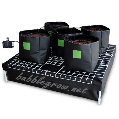 Complete 5 Bag Hydroponic System Watering Growing Kit And 400 x 300