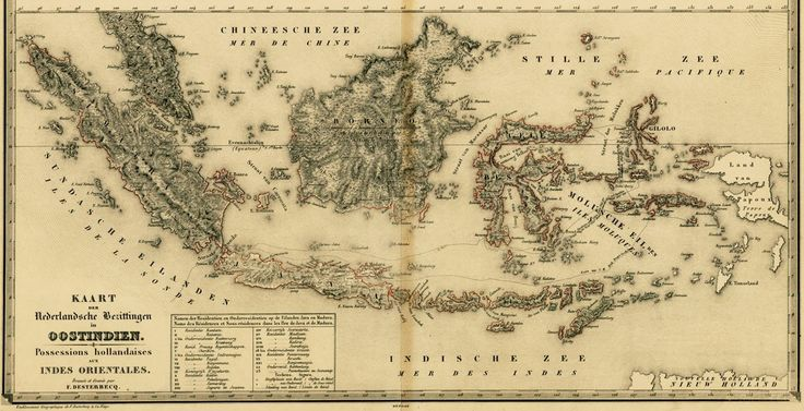 A map of Netherlands East Indies, taken from vakantiearena.nl, date unknown