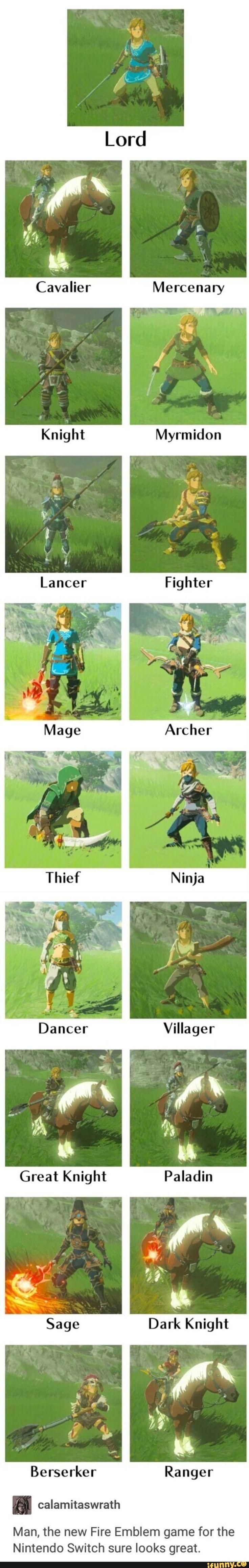 New Fire Emblem game leaked | The Legend of Zelda: Breath of the Wild | Know Your Meme