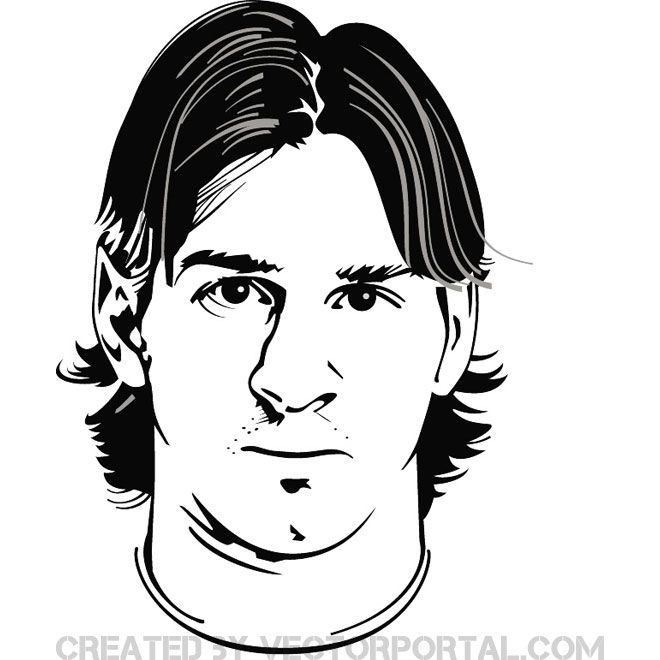 Lionel Messi Free Vector Image Lionel Messi Messi Sports Coloring Pages