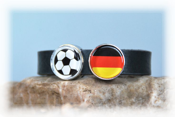 "Armbänder - Lederarmband ""Fussball - Deutschland"" - ein Designerstück von DaiSign bei DaWanda  http://de.dawanda.com/product/102677151-lederarmband-fussball---deutschland  Euro Euro2016 Euro16 EM EM2016 Europameisterschaft Fussball Fussballeuropameisterschaft France Deutschland Fahne Flagge Ball Europameister Weltmeister"