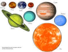 Free Printables Planets   Free Printable Solar System Model for Kids