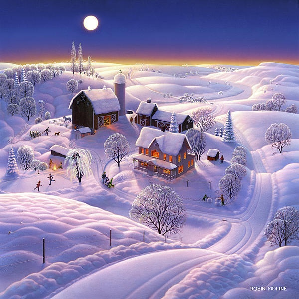Robin Moline Winter On The Farm
