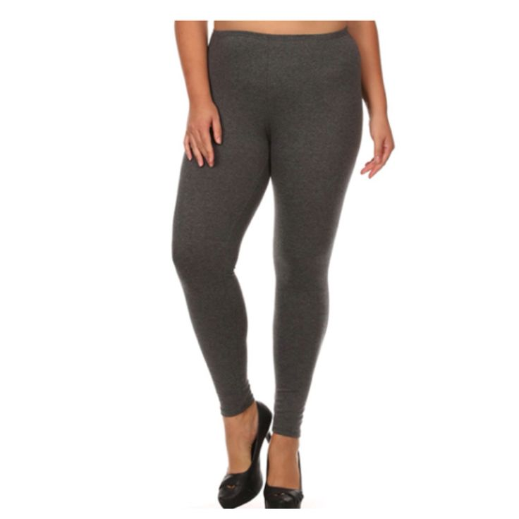 "Your New Favorites! Must Have ""Amazing"" No Peek-a-Boo See Through PLUS Size Charcoal Leggings - Cheryl's Galore and More"