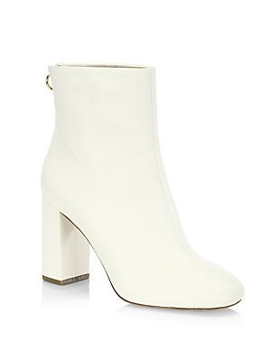 Joie Leather Block Heel Booties