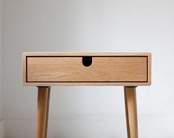 Mid-Century Scandinavian Side Table / Nightstand by Habitables