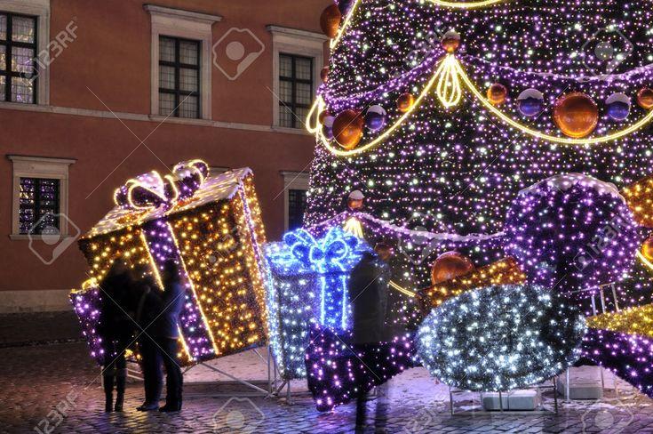 Warsaw, Poland - December 14, 2012 - Christmas Lights On The ...
