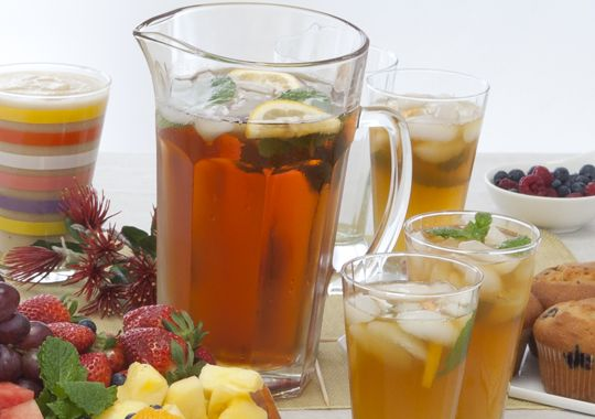 This Tropical Tea Punch is the perfect addition to any barbecue or summer party!