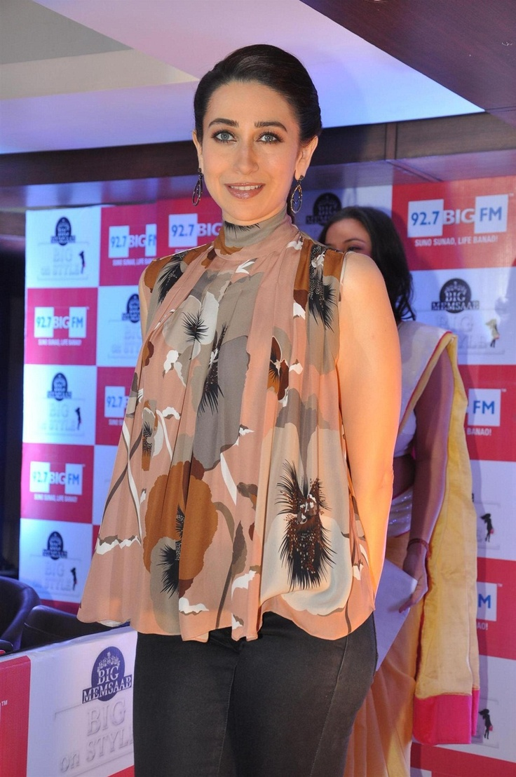 Karisma Kapoor Debuts as Radio Jockey for 92.7 BIG FM Studios.
