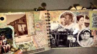 Tim Holtz Travel Album with how to make pockets