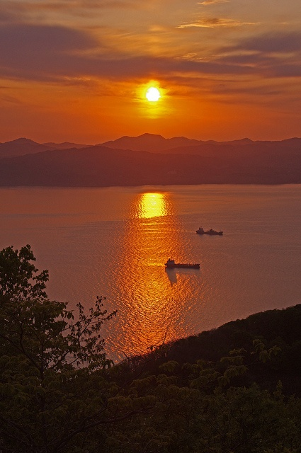 Hakodate Harbor, Hokkaido, Japan