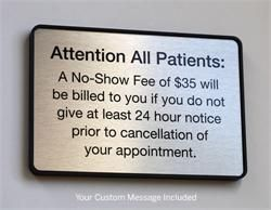 Custom Co Pay and Medical Registration Signs