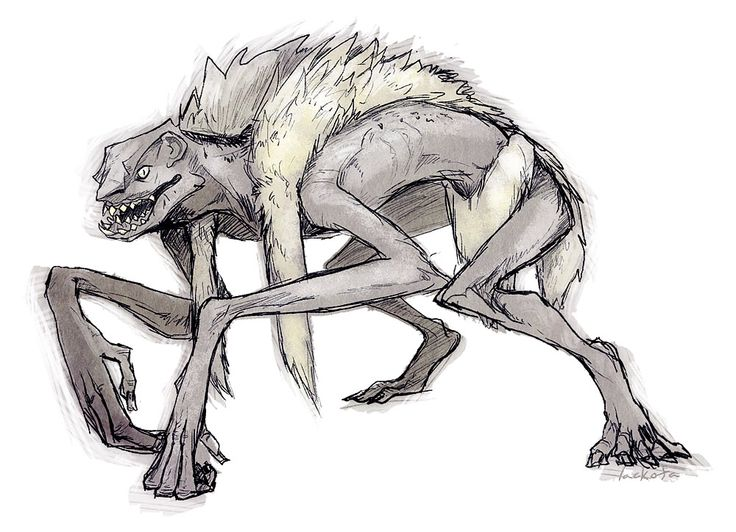 Eurynomos- Greek myth: a netherworld creature of rotting corpses that dwelled in the underworld. He is described as being blue and black and it bearing its teeth.