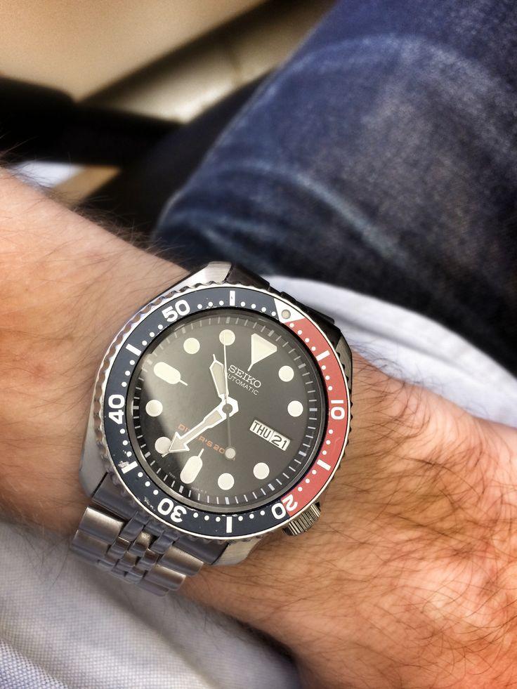Seiko SKX009 on jubilee bracelet | watches | Seiko ...