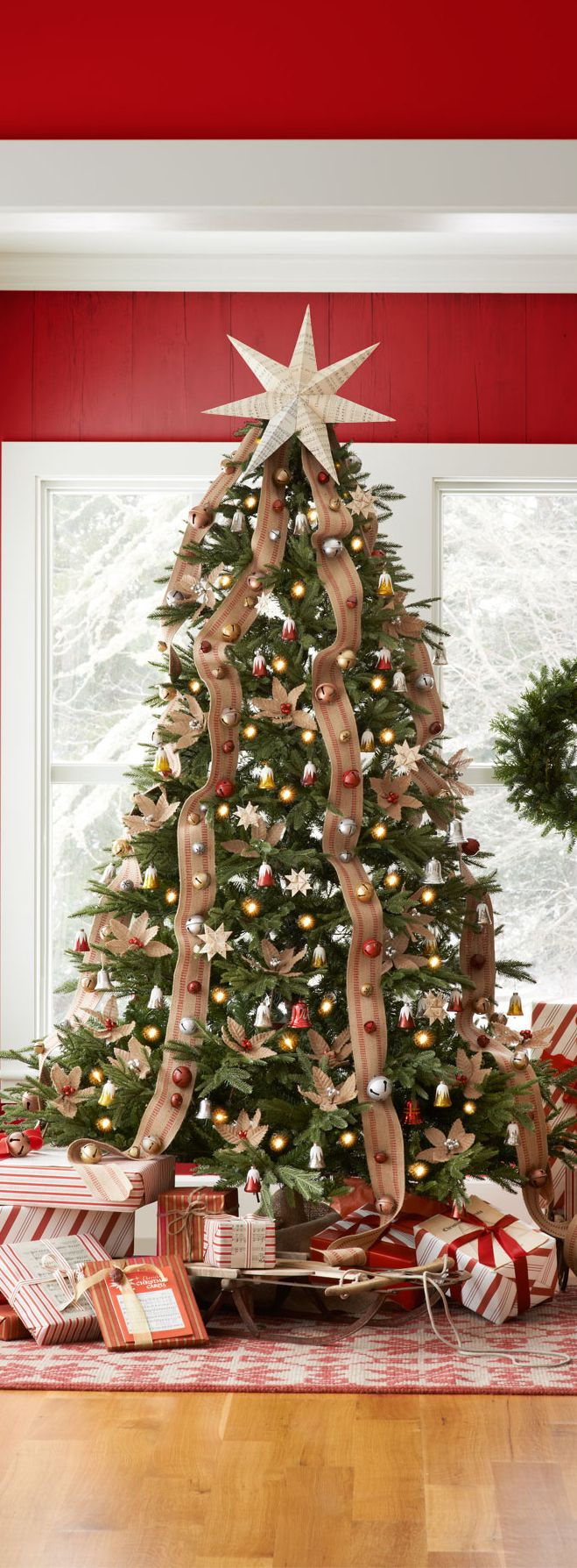 Christmas Tree Decorated Professionally : Best images about christmas on stockings