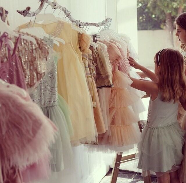 Baby girls and princess dresses