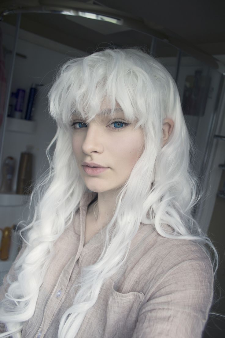 criedwolves : styled my new wig from rockstar wigs (Gothic Lolita Wigs, Classic Wavy Lolita Collection, White - 00495)