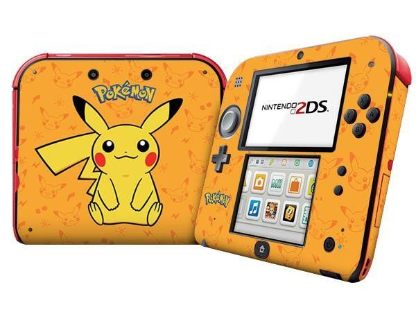 Plastic Pokemon Charter Protection Case Cover Sticker For 2DS Game Console with Package Skin