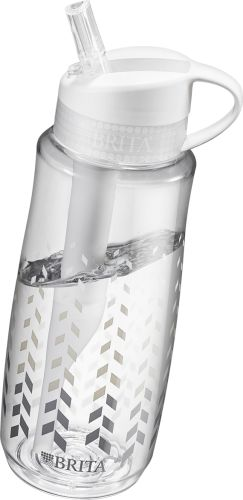 Take this large water bottle with you anywhere & get fresh tasting clean water. Its 34 oz capacity & straw will keep you hydrated longer, more easily.